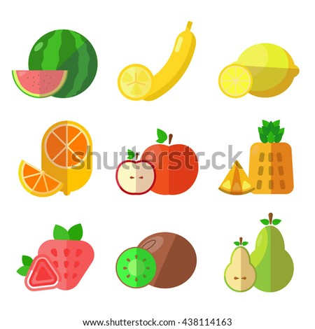set of cartoon food vector