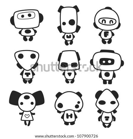 Set of cartoon funny monsters for use in design, etc.