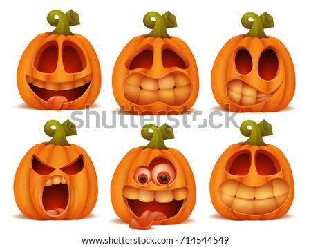 Pumpkin emoticon vectors download free vector art stock graphics set of cartoon pumpkin halloween characters in different emotions vector illustration thecheapjerseys Images