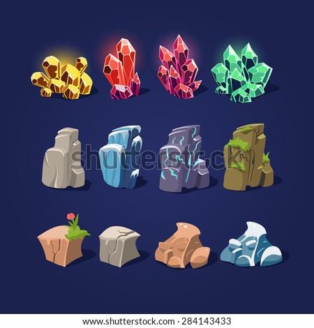 set of cartoon vector