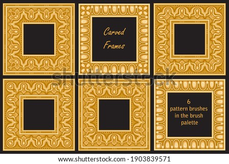 set of  carved gold classical