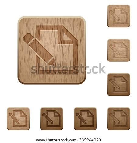 set of carved wooden edit