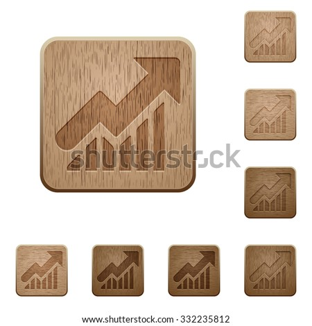 set of carved wooden graph