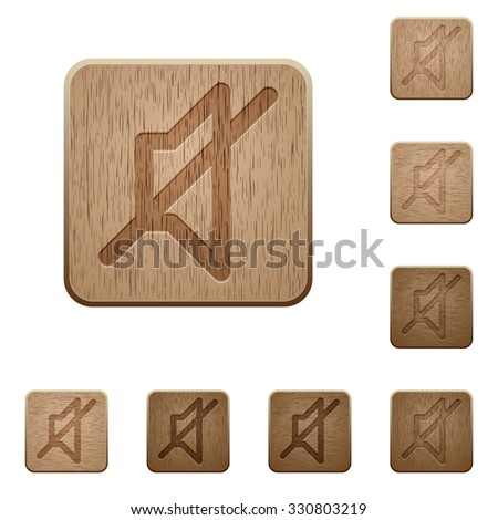 set of carved wooden mute