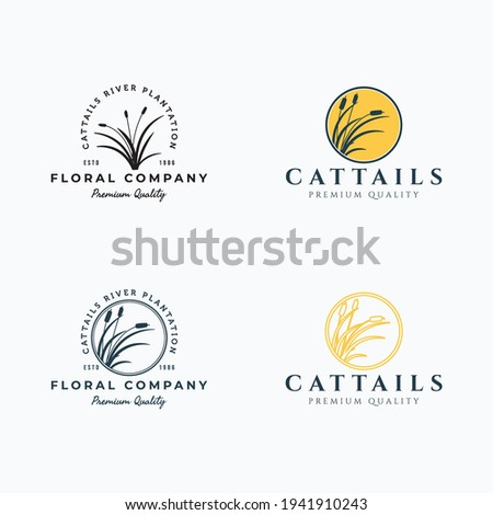 Set of cattails logo vector illustration design Stockfoto ©