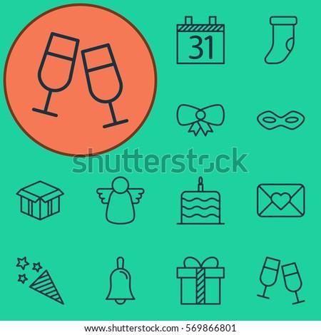 set of 12 celebration icons