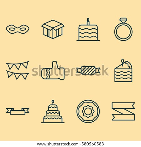 set of 12 celebration icons