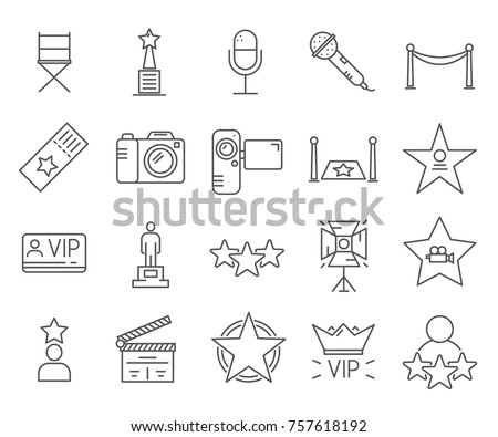set of celebrity related vector