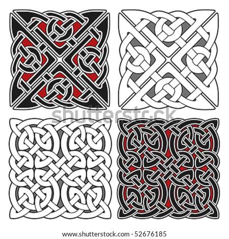 Set of celtic design elements