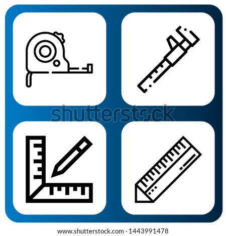 Set of centimeter icons such as Measuring tape, Measure, Ruler , centimeter