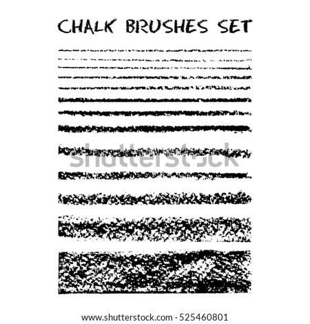 set of chalk brushes. vector...