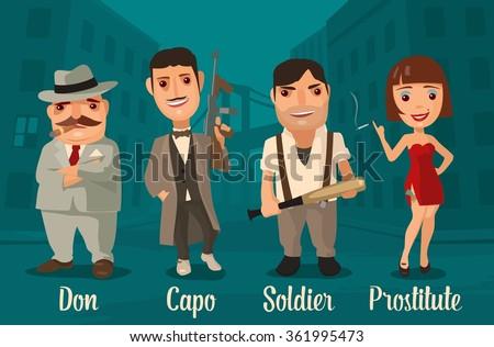 set of characters mafia don