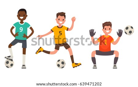 set of characters of soccer