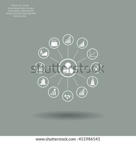set of charts, vector icon #451986541