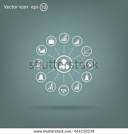 set of charts, vector icon #466150238