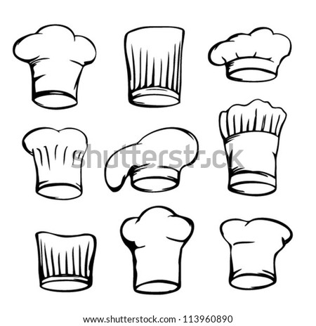 Set Of Chef Hats White Hat