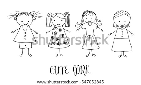 royalty free boys and girls loose sketch doodles 35504923 stock