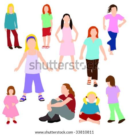 Set of children - Girls