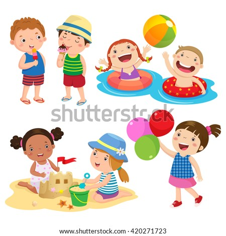 set of children play on the