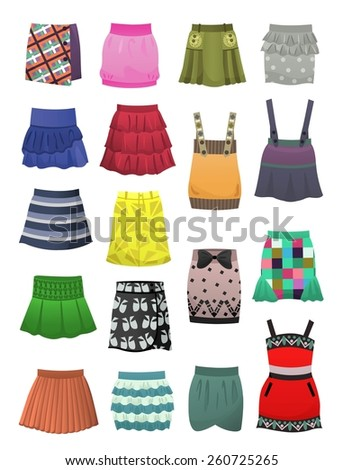 set of children's skirts and