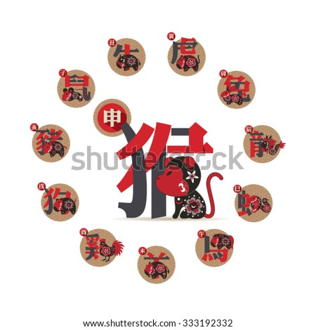 set of chinese zodiac signs
