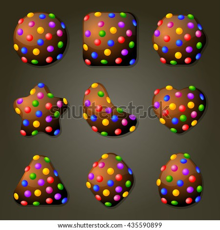 set of chocolate candies for