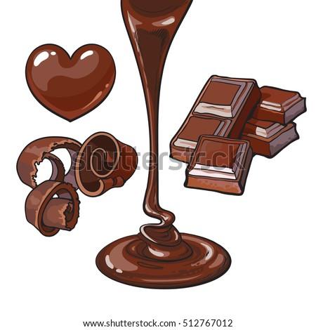 set of chocolate   heart shaped