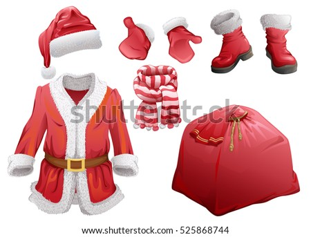 set of christmas accessories