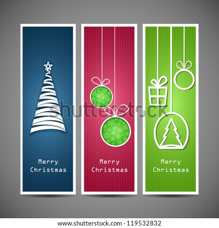 Set of christmas banners- vector