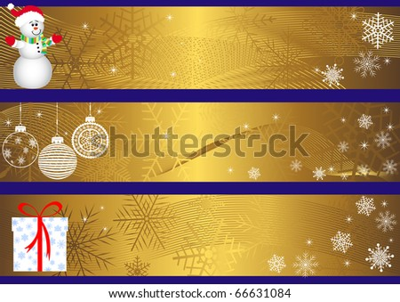 Set of christmas banners. vector. - stock vector