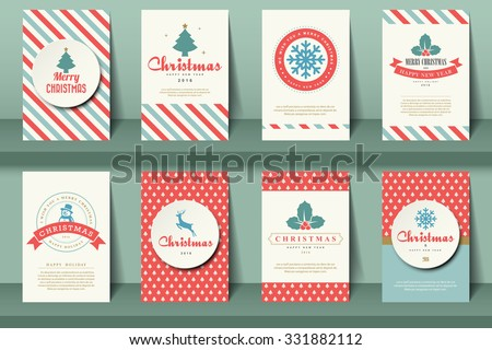 set of  christmas brochures in