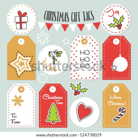 Printable Holiday Gift Tags - Download Free Vector Art, Stock ...