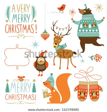 set of christmas graphic