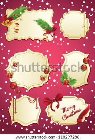 set of christmas labels
