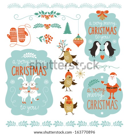 Cute Cartoon Christmas Animals Cute Cartoon Animals