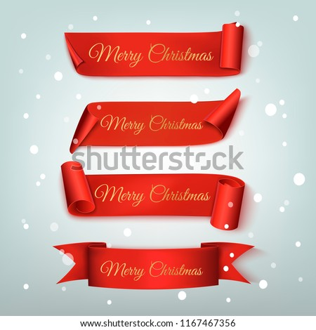 stock-vector-set-of-christmas-red-ribbon-vector-illustration