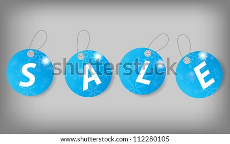 Set of Christmas Sale Tags. Vector illustration