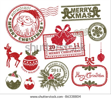 set of christmas stamp - Christmas Stamp