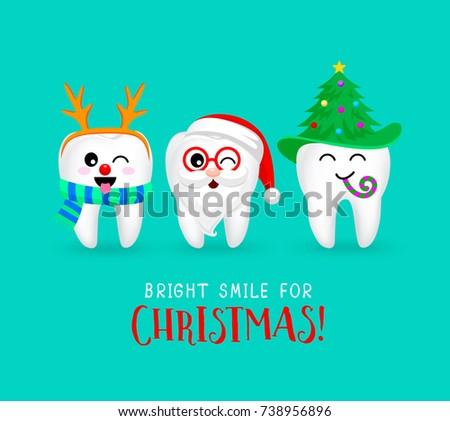 set of christmas tooth