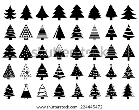 stock-vector-set-of-christmas-trees