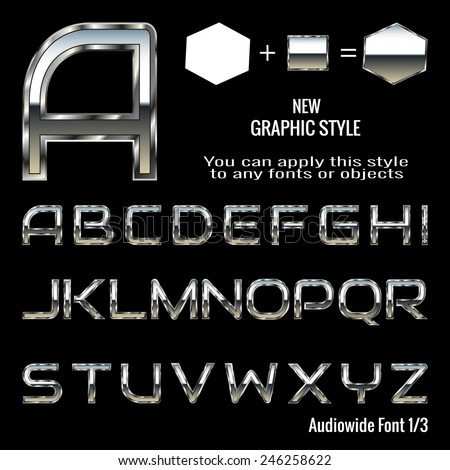 set of chrome letters and