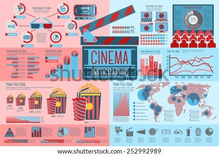 set of cinema infographic
