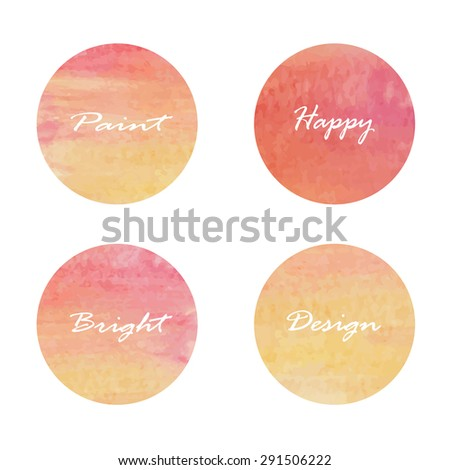 set of circle banners vector