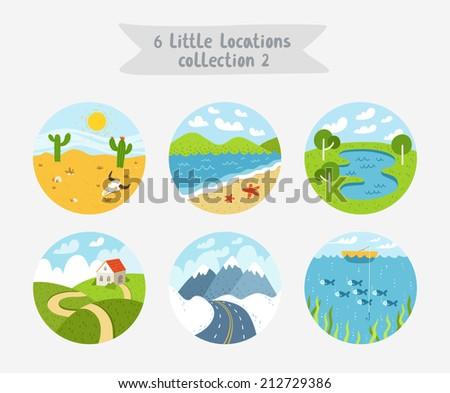 set of 6 circle locations