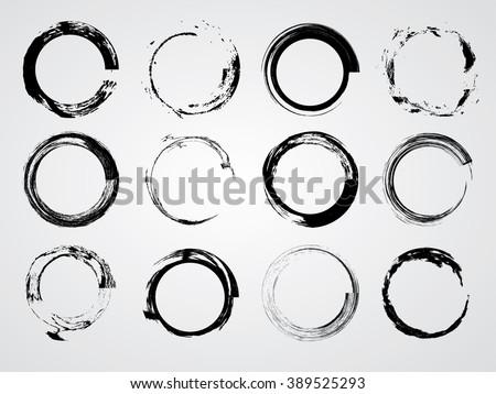 set of circle shapesstamps