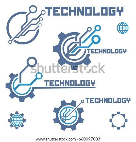 set of circuit tech elements....