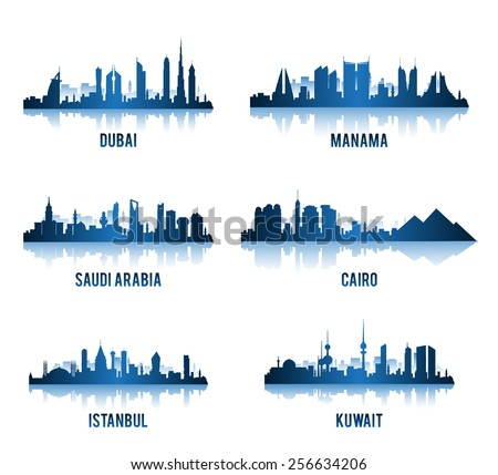 set of cities in middle east