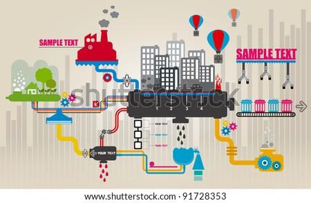 Set of city infographics, City Information Graphics