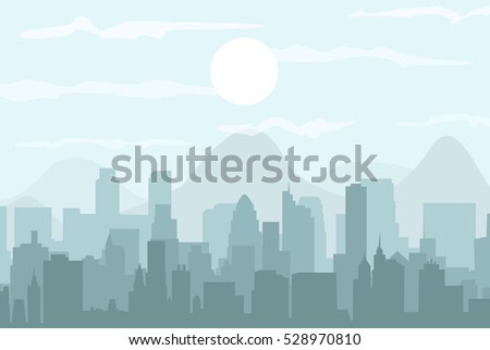 set of cityscape background
