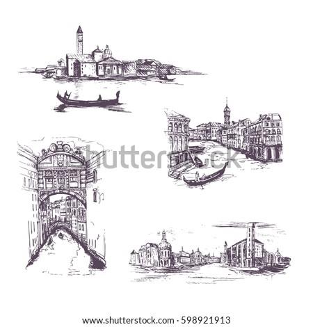 set of cityscape  vector